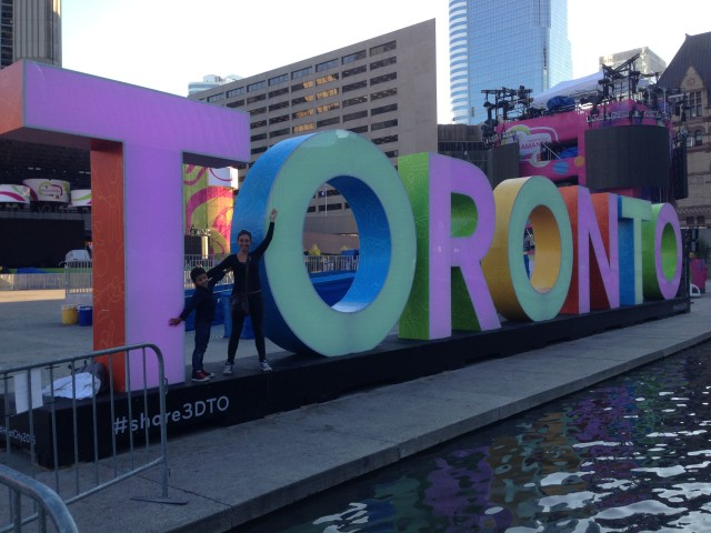 The benefits of being jet legged and waking up at 5am! We got the Toronto sign all to ourselves!!