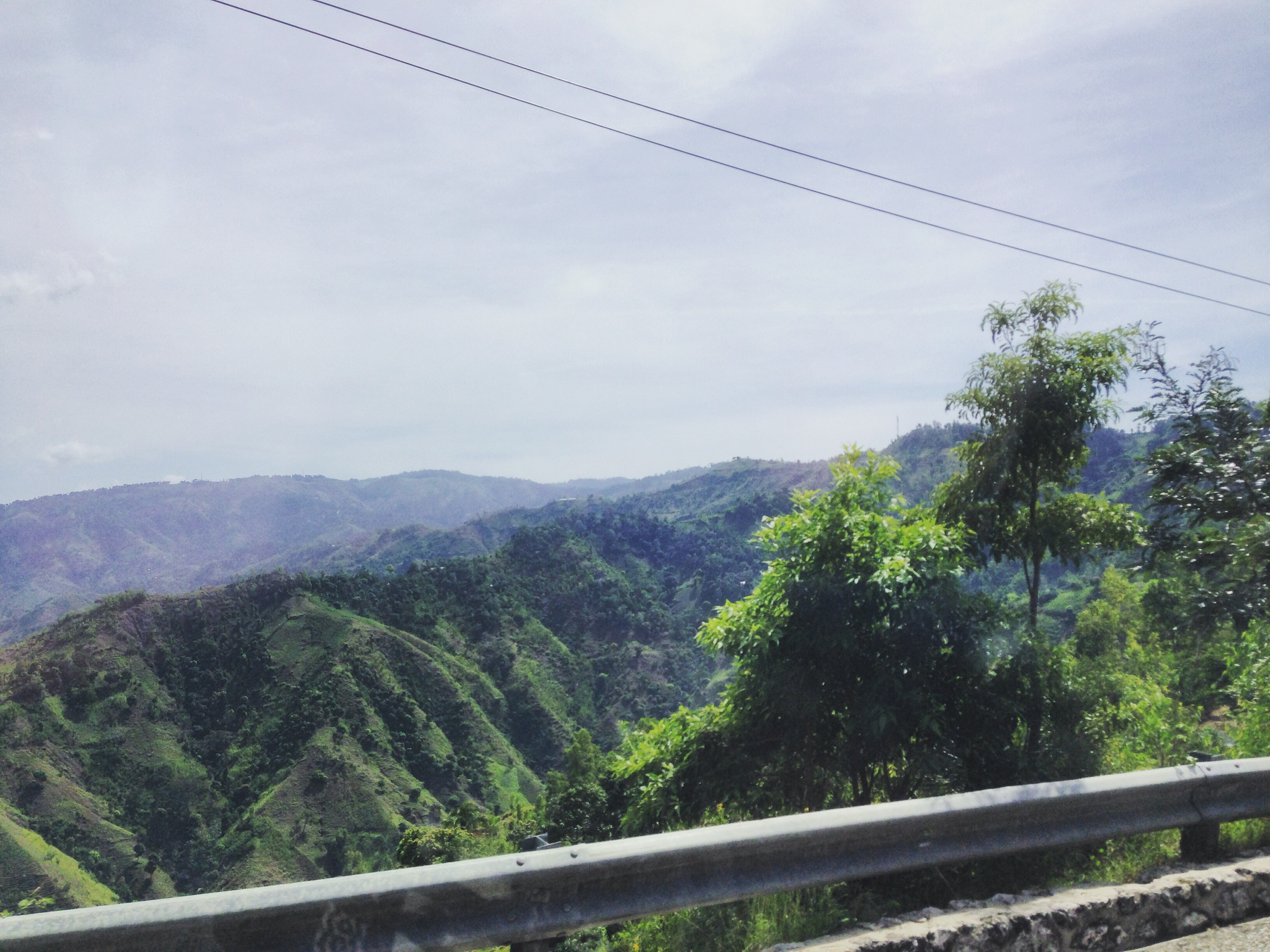Driving up the mountains of South East Haiti